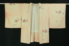 Mild pink gradiation Haori, Dyed abstract flower pattern / 淡いピンクグラデ地 染めの抽象花柄 化繊羽織    #Kimono #Japan  http://www.rakuten.co.jp/aiyama/