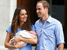 HEIR HE IS!A day after his birth, Prince William and Duchess Catherine's first child, a son, makes his debut outside of St. Mary's Hospital in London on July 23, with his proud mother gently holding her newborn and beaming brightly at her husband.