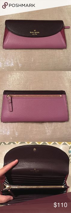 ❤️️❤️️❤️️NWT beautiful kate spade wallet This is a beauty! Very functional yet stylish! Love the jewel tones! Snap closure and 2 zipper ( inside and outside) compartments for coins kate spade Bags Wallets