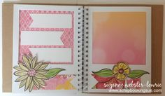 """Scrapbooking Sue: """"Brushed"""" Mini Album featuring Close To My Heart (CTMH) Brushed Papers and Hip Pics Album. http://scrapbookingsue.ctmh.com/Retail/Product.aspx?ItemID=7956&ci=1381"""