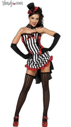 Madame Vampiress Costume, Sexy Queen of Hearts Costume for Women, Sexy Vampire Dress