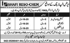 Shafi Reso Chem Lahore Apprenticeships ~ Jobs in Pakistan
