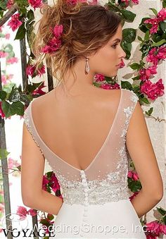 A stunning low back! Voyage by Mori Lee Bridal Gown 6797