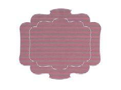 Tovaglietta - Placemat Parentesi 800 - multistripes red