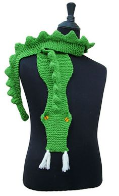 Dragon Scarf KNITTING PATTERN downloadable file by RianAnderson