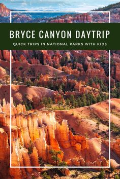 Bryce Canyon National Park with Kids- Even if you don't have a ton of time to explore Bryce Canyon, you can still see the hoodoos of Bryce in half a day with kids.