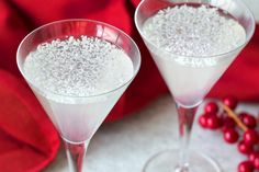 Hungry Girl's Coconut Lime Snowflake Martini Recipe and Winter Sangria