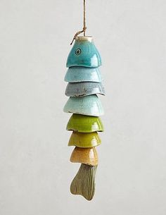 Good Cost-Free Slab pottery wind chimes Style Coldwater Catch Wind Chime – anthropologiecom Saw this tutorial on making one out of leftover eas Slab Pottery, Pottery Wheel, Ceramic Pottery, Pottery Art, Ceramic Art, Pottery Sculpture, Pottery Houses, Hand Built Pottery, Pottery Mugs