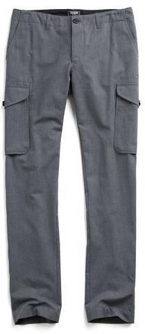 Todd Snyder Slim Wool/Cotton Cargo Pant in Dark Grey Best Cargo Pants, Todd Snyder, Modern City, Gq, Slim, Stylish, Dark Grey, Cotton, How To Wear