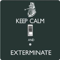 "Rikki KnightTM Keep Calm and Exterminate Green Color - Single Toggle Light Switch Cover by Rikki Knight. $13.99. For use on Walls (screws not included). Glossy Finish. Washable. Masonite Hardboard Material. 5""x 5""x 0.18"". The Keep Calm and Exterminate Green Color single toggle light switch cover is made of commercial vibrant quality masonite Hardboard that is cut into 5"" Square with 1'8"" thick material. The Beautiful Art Photo Reproduction is printed directly into the switc..."