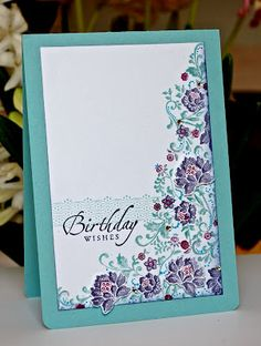 Stampin' Up ideas and supplies from Vicky at Crafting Clare's Paper Moments: Fresh Vintage birthday Vintage Stamps, Vintage Cards, Card Making Inspiration, Making Ideas, Cardio Cards, Craftwork Cards, Birthday Cards, Birthday Images, Birthday Quotes
