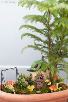 Indoor Fairy Garden, found this on a blog with the sweetest poem.