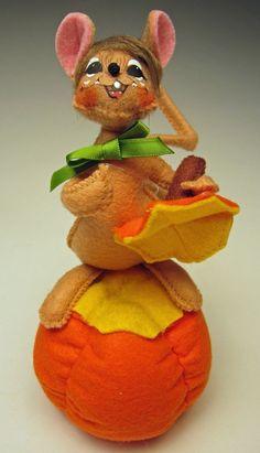 Annalee Fall New 2014 Mobility Figure Doll 5 inch Harvest Pumpkin Mouse Laughing #AnnaleeMobilityDoll #Dolls