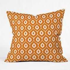 Aimee St Hill Leela Orange Throw Pillow   DENY Designs Home Accessories