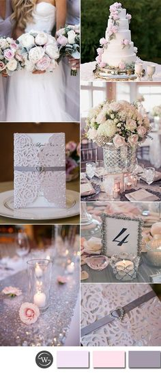 Six Beautiful Pink and Grey Wedding Color Combos with Invitations pale pink and silver glamour wedding ideas Wedding Table, Diy Wedding, Wedding Flowers, Dream Wedding, Trendy Wedding, Wedding Cakes, Wedding Favors, Summer Wedding, Silver Wedding Decorations