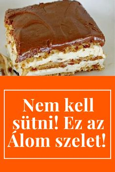 Hungarian Desserts, Hungarian Recipes, Super Healthy Recipes, Sweet Recipes, No Bake Desserts, Dessert Recipes, Homemade Sweets, Winter Food, Food Cakes