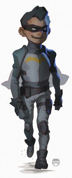 Recon Batman and Robin Character Designs — GeekTyrant IS THAT ROBIN?! HE'S ADORABLE OMW #happybatmanday