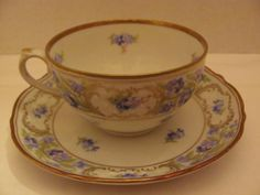 "Vintage - FORGET ME NOT - Flat Cup and Saucer SET (Flat Cup - 2 1/8"" Tall / Saucer - 5 11/16"" in Diameter) - by SCHUMANN / Bavaria / Germany qualitycollectibles4u,http://www.amazon.com/dp/B009WU3TY8/ref=cm_sw_r_pi_dp_Qrkhtb0QHABAVMHF"