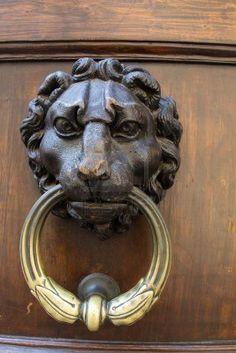 Lion Door knocker in Florence Italy