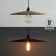 Vintage Farm Cultivator Disk Pendant Lamp by DesignDistressed, $110.00