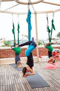 San Diego: 5 Spots to Get Active and Where to Fuel Up After. Aerial yoga at Trilogy Sanctuary. #theeverygirl