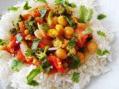 Legumes Salteados com Caril