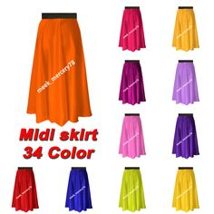 This is Satin Midi Skirt. This Skirt is made Satin fabric And Waist Elastic. Waist is Elastic Waist SO You can wear easily. This Item has a stretch band so that it would fit any waist from To Midi Skirt Casual, Sexy Skirt, Casual Skirts, Short Skirts, Midi Skirts, Satin Midi Skirt, Satin Shorts, Color Shorts, Layered Skirt
