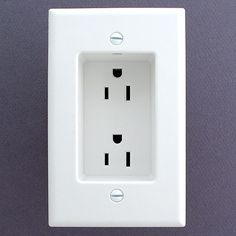 Recessed outlets so that the plugs don't stick out from the wall.  allows furniture to be flat against the wall.