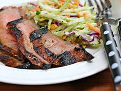 Recipe for spicy Asian grilled sesame-soy flank steak