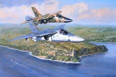 'Cherry Bomb and the Chief', by Ronald Wong (EF-111A Raven 'Cherry Bomb' and F-111E 'The Chief' over the Loch Ness)