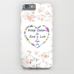 keep+calm+and+eat+a+lot++iPhone+&+iPod+Case+by+Color+And+Color+-+$35.00