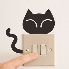 DIY Funny Cute Black Cat Switch Decal Wallpaper Wall Stickers Home Decoration Bedroom Kids Room Light Parlor Decor Sticker ZY327
