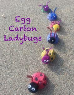 Egg Carton Ladybug Preschool Craft and $400 Amazon Gift Card Giveaway (ends 4/21) - Enchanted Savings