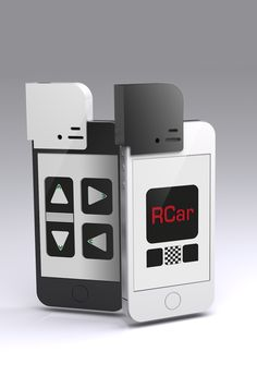 RCar iPhone App : This application coupled with external device allows the user to use the iPhone as a remote control for an RC Car. Designed by Chris Rockliffe