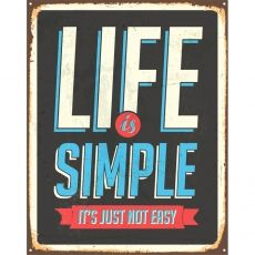 Plakat 60 x 80 cm w ramce - Life Is Simple na Houzee.pl