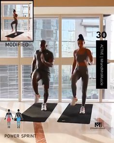 Get your sweat on with this IG: mrandmrsmuscle workout. Power Sprint Double Squat Jump to Pause Burpee to Half Burpee Narrow Squat Kick 4 Rounds / Active / Rest Between each Exercise. Hiit Workout Routine, Sport Cardio, Full Body Hiit Workout, Hiit Workout At Home, Cardio Workout At Home, Gym Workout Videos, Gym Workout For Beginners, Pilates Workout, Cardio Hiit