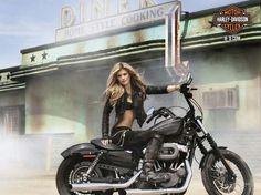 harley davidson pin up girls | re harley pin up marisa miller on why she loves bikes harley could ...