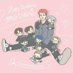 Felix Stray Kids, Stray Kids Chan, Anime Meme, Kpop Anime, Drawing For Kids, Art For Kids, Fanart Kpop, Kids Fans, Chris Chan