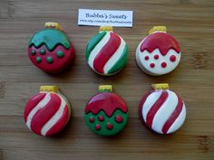 CHRISTMAS ORNAMENTS Chocolate Covered Oreos by BubbasSweets