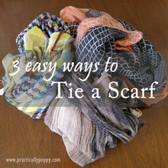 3 Easy Ways to Tie a Scarf for everyday