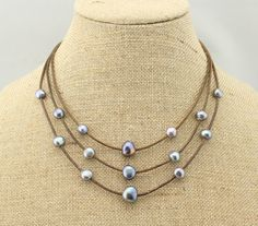 ETS-S110 freshwater pearl necklace pearl chunky by PearlJewellery