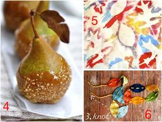 Autumn crafts and food