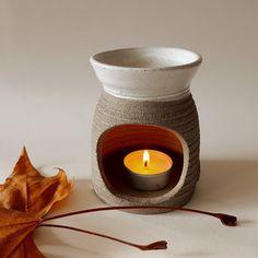 Stoneware,handmade Essential Oil Burner, Essential Oils, Candle Jars, Candle Holders, Candles, Oil Burners, Stoneware, Etsy Seller, Ceramics