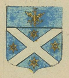 Louis Auguste D'ISNARD, seigneur de Sartoux. Porte : d'azur, à un sautoir d'argent accompagné de quatre molettes d'or ; et un chef cousu d'azur, chargé d'un aigle couronné d'or | N° 101