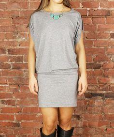 Heather Gray Blouson Dress
