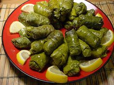 "One of cyprus traditional food called ""koupepia"". It made of vine leaves staffed with rice,mince pork,and herbs. Just delicious."