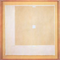 Robert Ryman Orange Painting