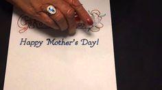 EzyShaid (R) Colour's Card for Grandma on Mother's Day
