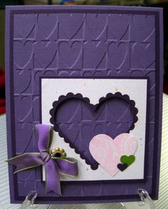 Purple Valentine by karensallen - Cards and Paper Crafts at Splitcoaststampers