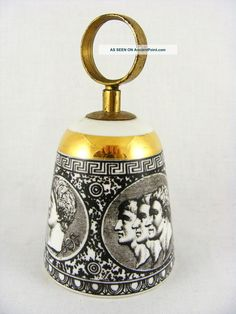 20th.  Cent.  Fornasetti Milano Porcelain Table Bell Mid-Century Modernism photo
